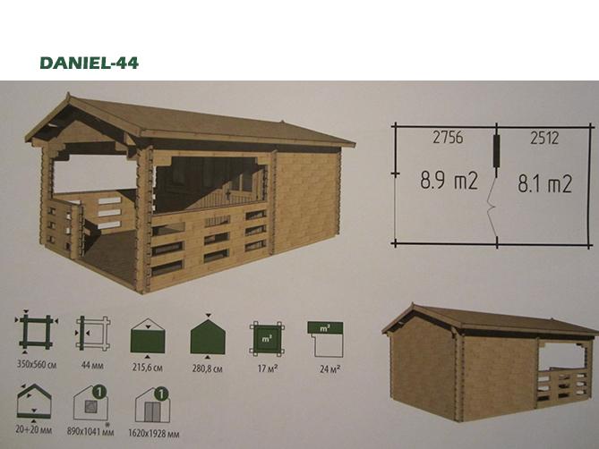 Blokhut Daniel-44   (3.5*5.6)