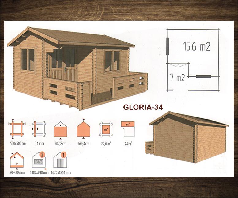 Blokhut Gloria-34